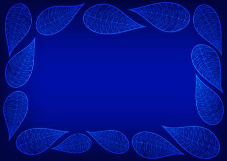 royal blue: Royal Blue Leaves Spider Lace Background Vector Illustration Illustration