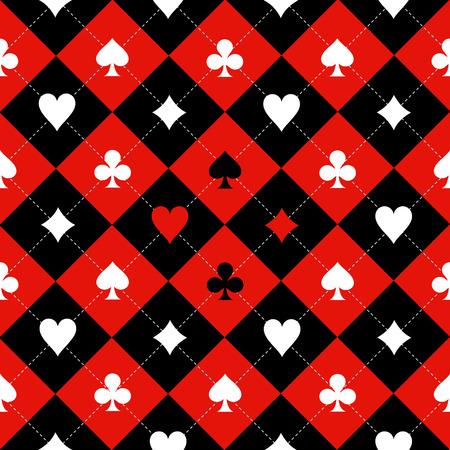 ajedrez: Tarjeta del juego de ajedrez Junta Rojo Negro Color Fondo blanco Ilustración