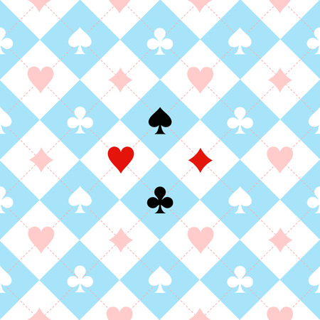 Card Suit Chess Board Blue Black White Background Illustration