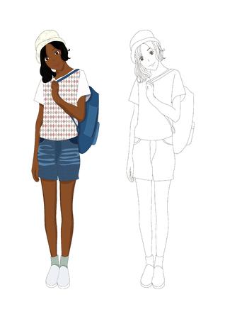 denim: Girl Denim Fashion African