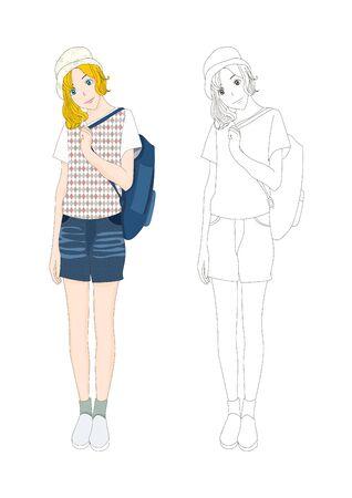 denim: Girl Denim Fashion Caucasian