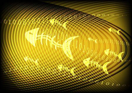 phishing: Phishing Information Technology Yellow Gold Background