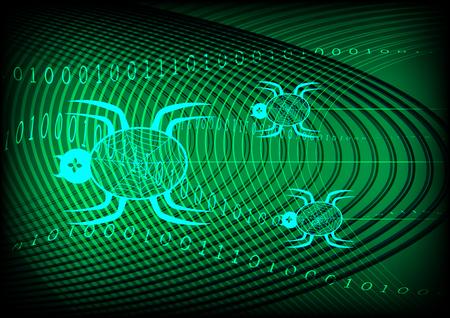 sniffer: Spider Technology Green Background