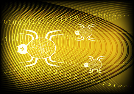 sniffer: Spider Technology Yellow Gold Background