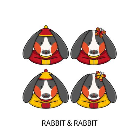 chinese new year rabbit: Rabbit Chinese Happy New Year Vector Illustration