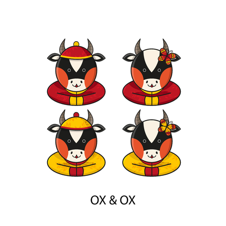 ox: Ox Chinese Happy New Year Vector Illustration Illustration