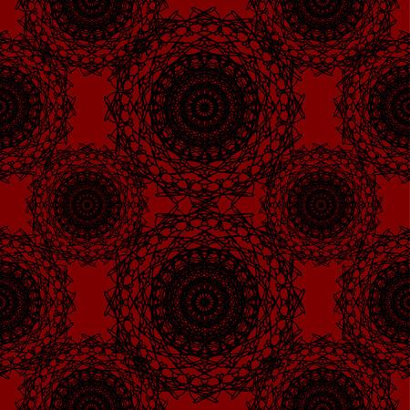 crimson: Crimson Red Round Lace Gothic Pattern Illustration
