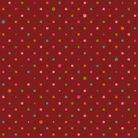 rainbow background: Rainbow Polka dot Red Background Illustration. Illustration