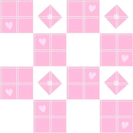 corazon: Chessboard Pink Heart Valentine Background Vector Illustration Illustration