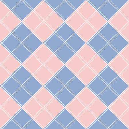 Cuarzo rosa de la serenidad del diamante del tablero de ajedrez ilustración vectorial