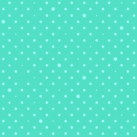 aqua background: Blue Green Mint Star Polka Dots Background Vector Illustration Illustration