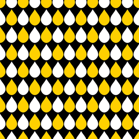 drops of water: Yellow White Black Water Drops Background Vector Illustration