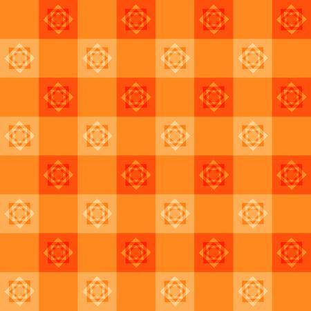 chessboard: Orange Flower Chessboard Background Vector Illustration Illustration