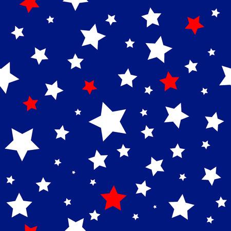 american history: Stars USA Flag Pattern Vector Illustration Illustration