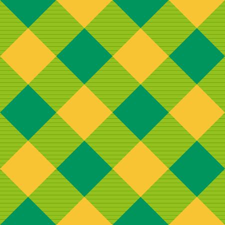 黄色緑ダイヤモンド チェス盤背景イラスト  イラスト・ベクター素材