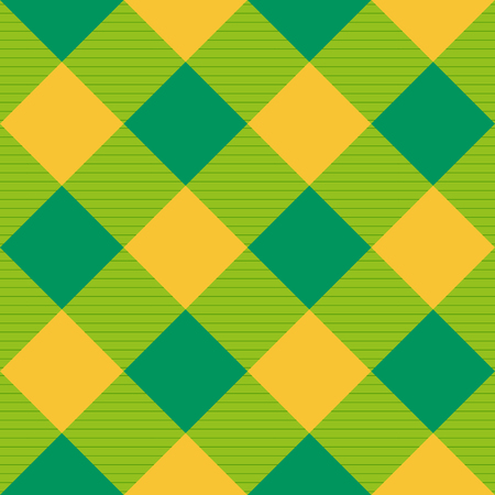 Yellow Green Diamond Chessboard Background Illustration