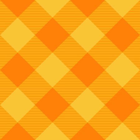 chequer: Yellow Orange Diamond Chessboard Background Illustration Illustration