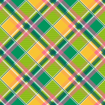 chequer: Yellow Green Pink Diamond Chessboard Background
