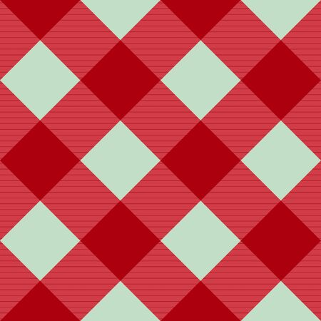 chequer: Red Pink Green Diamond Chessboard Background  Illustration