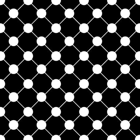 grid black background: White Polka dot Chess Board Grid Black Background Vector Illustration