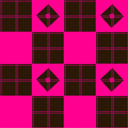 chequer: Chessboard Pink Brown Background Vector Illustration