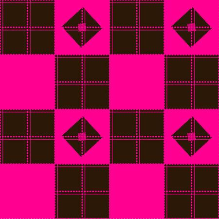 pink brown: Chessboard Pink Brown Background Vector Illustration