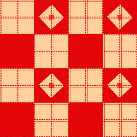 chequer: Chessboard Beige Red Background Vector Illustration