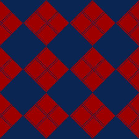 navy blue background: Diamond Chessboard Red  Navy Blue Background Vector Illustration Illustration