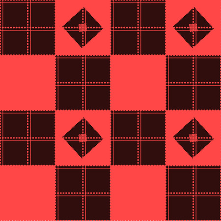 Chessboard Red Background Vector Illustration Illustration
