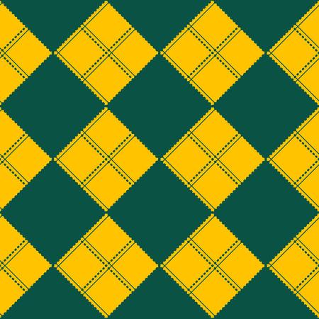 chessboard: Diamond Chessboard Yellow Green Background Vector Illustration