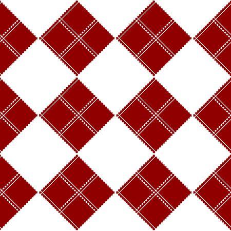 corazon: Diamond Chessboard Red Background Vector Illustration