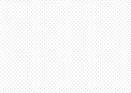 Black Dots White Background Vector Illustration  イラスト・ベクター素材