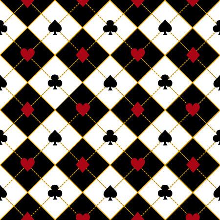 ロイヤル赤ブラック ダイヤモンド背景ベクトル イラスト カード スーツ