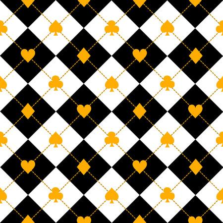 La carta è adatta a Black Royal White Diamond Background Vector Illustration