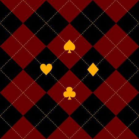red diamond: Card Suits Black Royal Red Diamond Background Vector Illustration Illustration