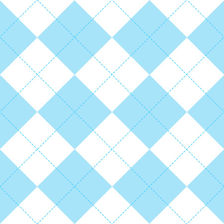 Blue White Diamond Background Vector Illustration