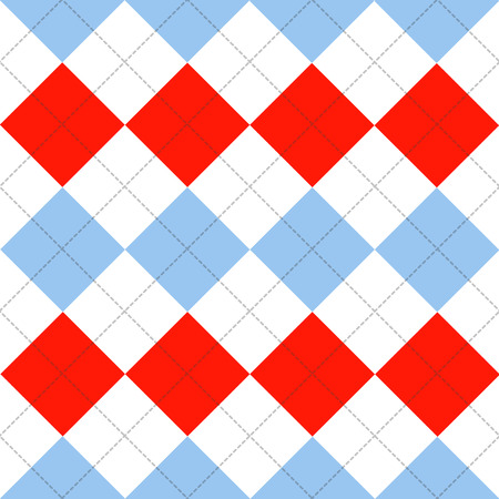 chequer: Lines Dots Blue Serenity Red White Diamond Background Background Vector Illustration Illustration