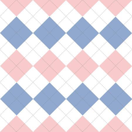 chequer: Lines Dots Rose Quartz Serenity White Diamond Background Vector Illustration