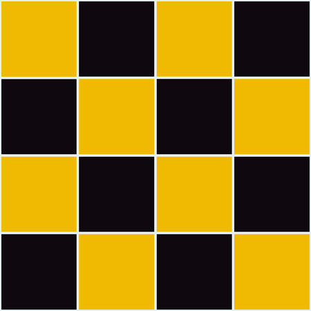 chessboard: Yellow Black Chessboard Background Vector Illustration