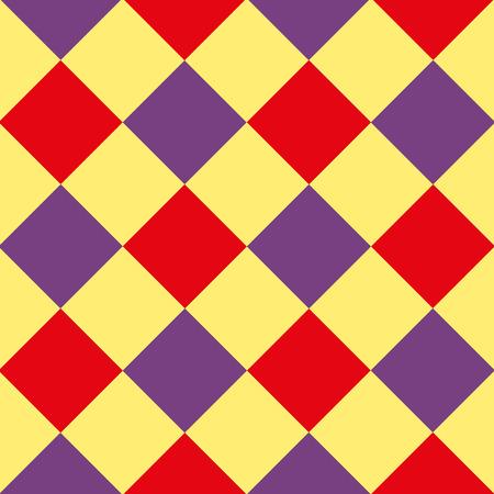 chessboard: Yellow Purple Red Diamond Chessboard Background Vector Illustration Illustration