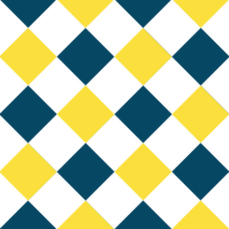 Yellow Buttercup Blue Teal White Diamond Chessboard Background Vector Illustration Illustration