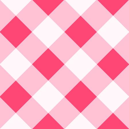 Pink White Diamond Chessboard Background Vector Illustration Stock Illustratie