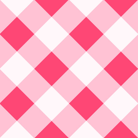 Pink White Diamond Chessboard Background Vector Illustration Vectores