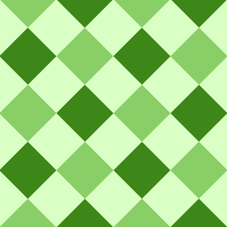 Green Leaf Diamant Schachbrett Hintergrund Vektor-Illustration Vektorgrafik