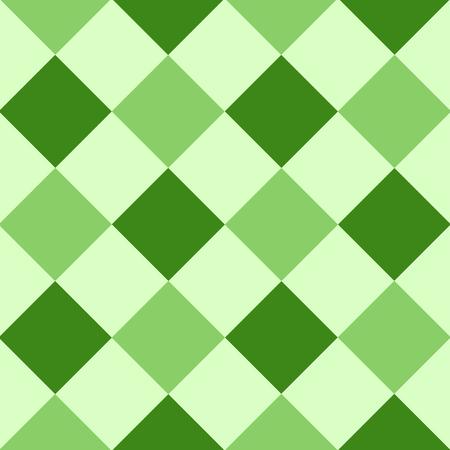Green Leaf Diamond Chessboard Background Vector Illustration Vettoriali