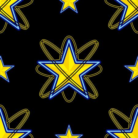 illustraion: Star Black Background Vector Illustraion Illustration