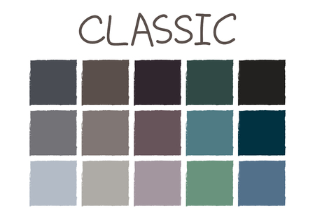 usual: Classic Color Tone without Code Vector Illustration