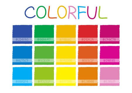 tone: Colorful Color Tone with Code Vector Illustration