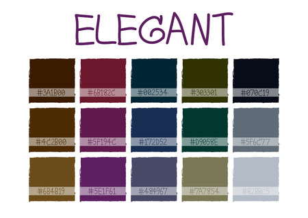 blue violet: Elegant Color Tone with Code Vector Illustration