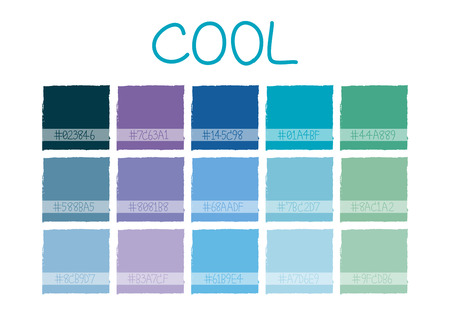 tone: Cool Color Tone with Code Vector Illustration
